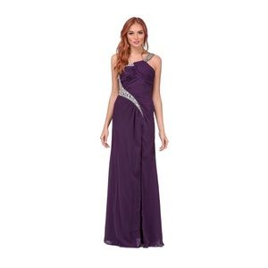 NEW Elegant One Shoulder Long Dress